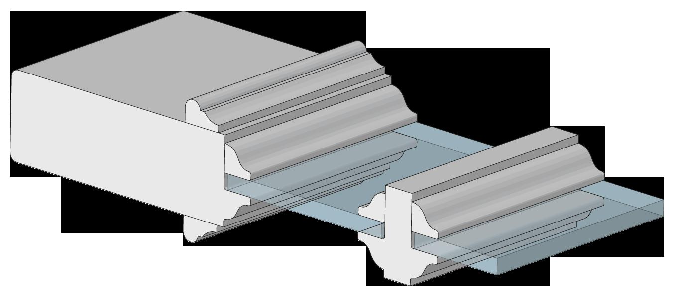 Trustile paint grade mdf interior doors in chicago at for Modern door casing profiles