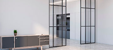 Glass with Metal Frame Interior Modern Doors - Great Weldwork
