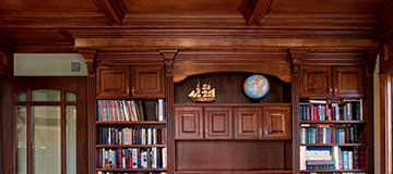 Custom Cabinets, Custom Home Library