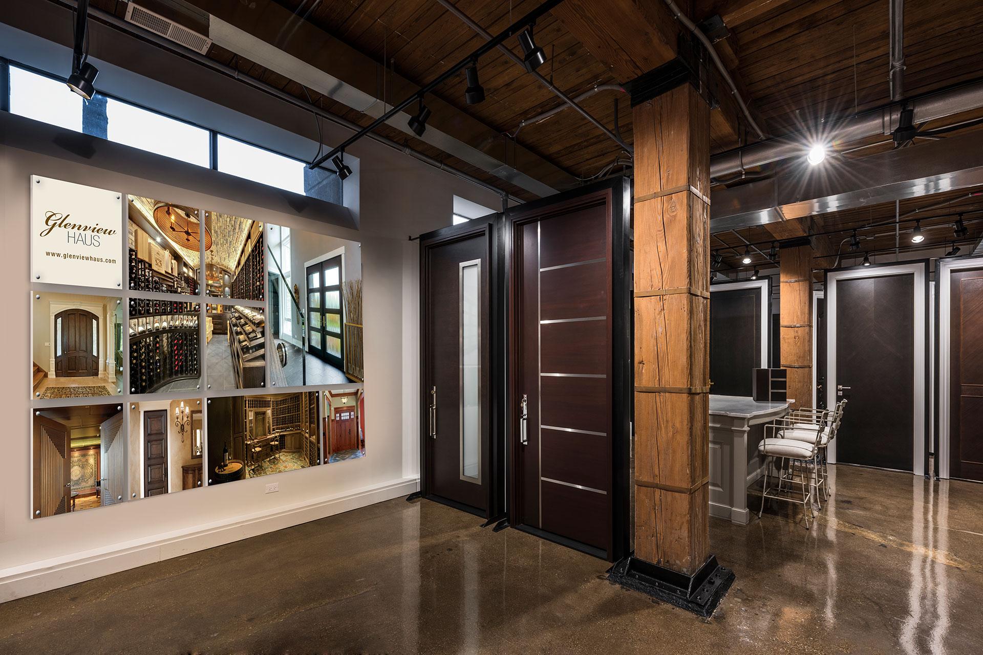 Glenview Haus Showroom Custom Front And Interior Doors