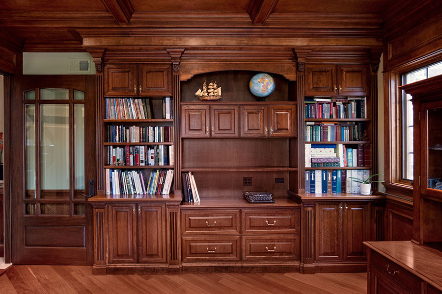 Library, Custom Cabinets from Glenview Haus
