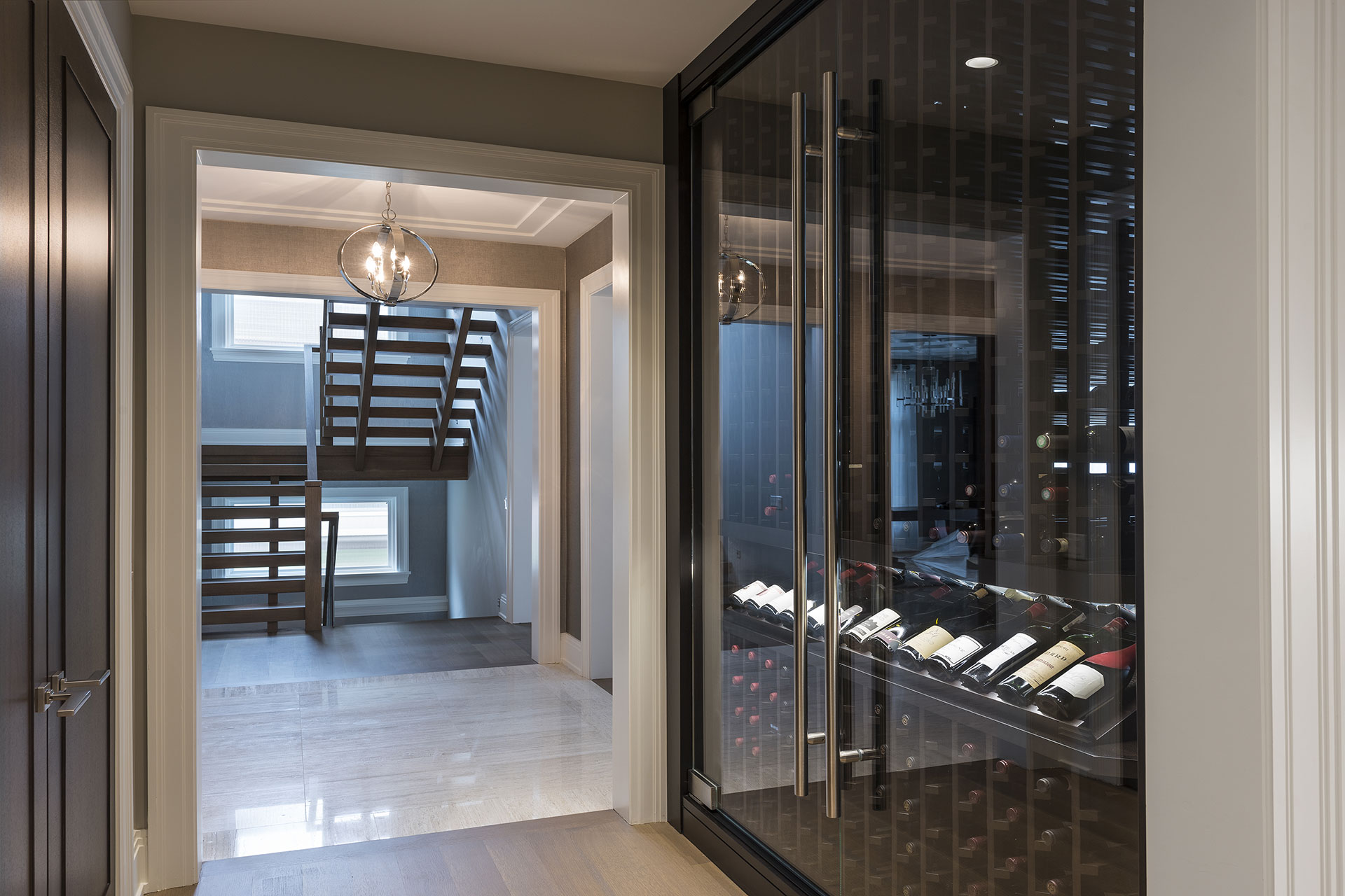 Custom Refrigerated Wine Cabinet North Shore Modern Home