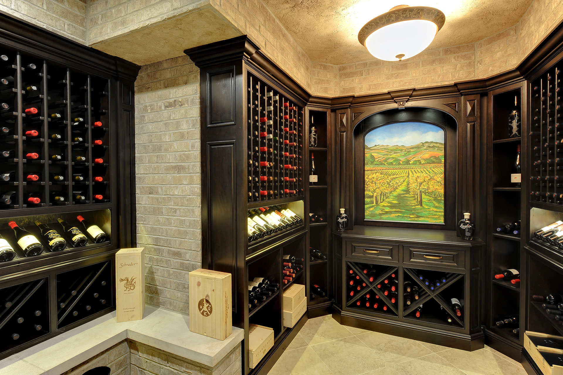 custom wine cellar project experience tuscany at your home glenview haus chicago custom. Black Bedroom Furniture Sets. Home Design Ideas