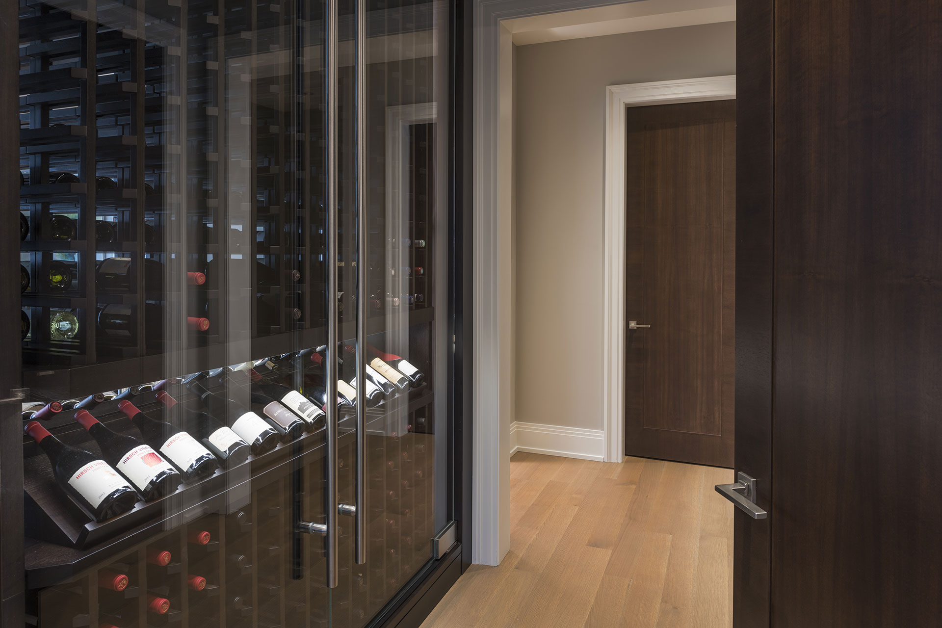 Custom Refrigerated Wine Cabinet