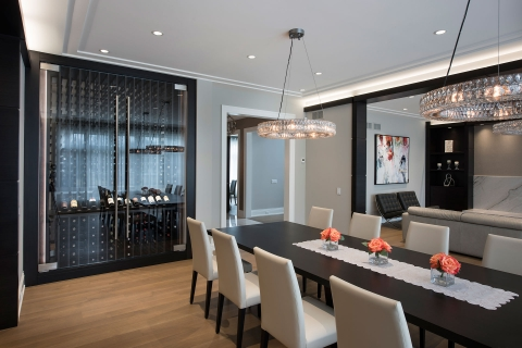 Custom-Refrigerated-Wine-Cabinet,-Dining-Table
