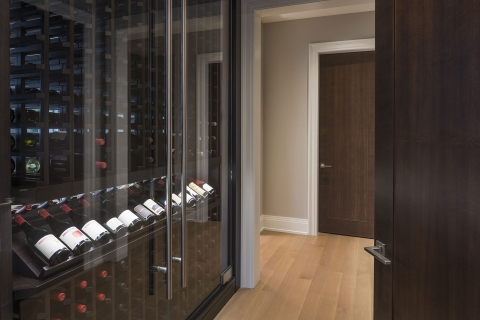 Custom-Refrigerated-Wine-Cabinet-view-from-Hallway
