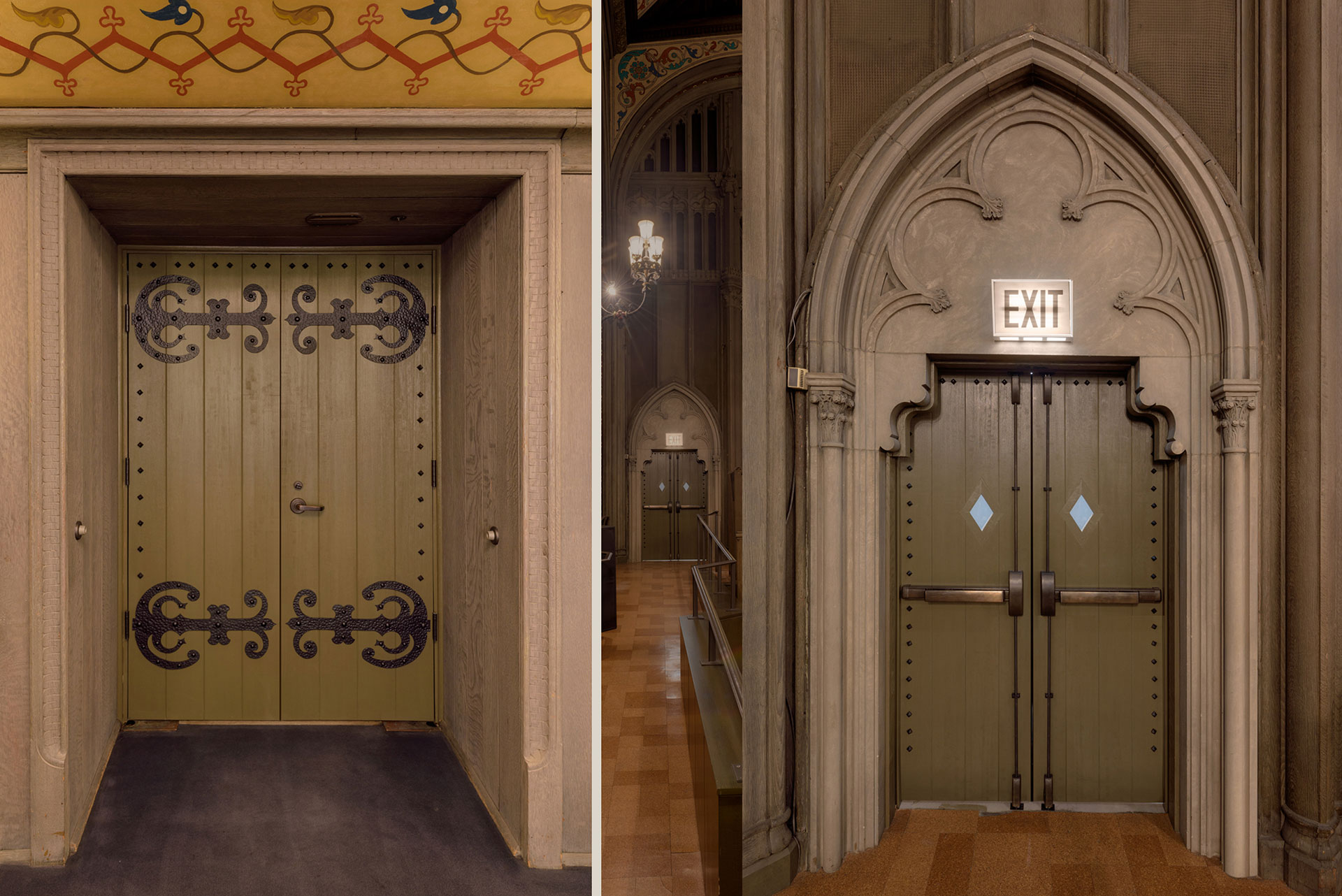 Historical Renovation Doors Fire Rated Chicago Temple