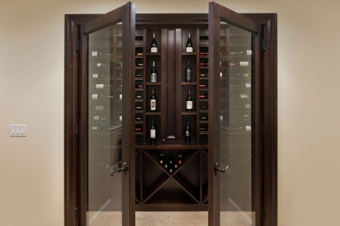 Elegant, custom wine storage solution.