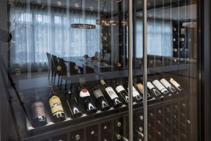 Custom-Refrigerated-Wine-Cabinet in Modern Style Single Family Custom Home
