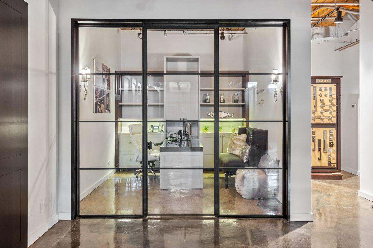 Front View Steel Interior Door Unit