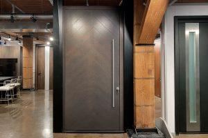 Pivot Entry Door in Glenview Haus Showroom