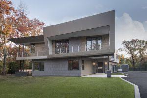 Modern Single Family Home Full House Elevation